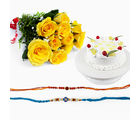GiftsAcrossIndia Rakhi Express With Roses And Cake (GAIR2016043)