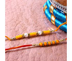 Giftacrossindia Two Exotic Beads Rakhis