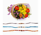 Giftacrossindia Exotic Bouquet With Three Rakhi Express (GAIR2016138)