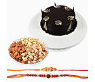 Giftacrossindia Set Of Two Rakhi Express With Dryfruits And Chocolate Cake (GAIR2016075)