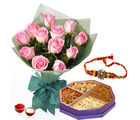Giftacrossindia Rakhi Express And 1 Kg Dry Fruits With Roses Bunch (GAIR2016212)