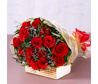 Giftacrossindia Fifteen Red Roses Bouquet (GAIMPHD0074), 1000 gms