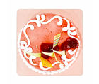 Giftacrossindia Delicious One Kg Strawberry Flavor Fresh Cream Cake (GAIMPHD0091), 1000 gms