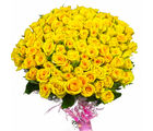 Giftacrossindia 100 Yellow Roses Bouquet (GAIMPHD0574), 1000 gms