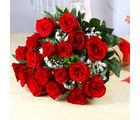Giftacrossindia Fresh Eighteen Romantic Red Roses Bunch (GAIMPHD0035), 1000 gms