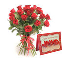 Gifts valley 20 Red Roses Valentine Hand Tied Bunch