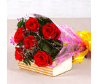 Giftacrossindia Bouquet of Six Red Roses (GAIMPHD0081), 1000 gms