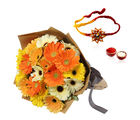 Giftacrossindia Mix Gerberas And Thread Rakhi Express (GAIR2016163)