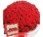 Gifts valley 100 Red Roses Bunch For Your Valentine
