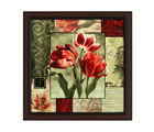Delight Set Of Two Rose Paiting, multicolor