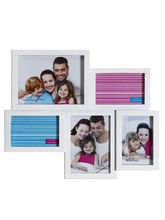 Aapno Rajasthan Soothing White Collage Photo Frame, white