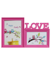 Aapno Rajasthan Pinkish Love 2 Pictures Collage Photo Frame, pink