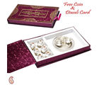 Aapno Rajasthan Kaju Laddoos With Pooja Thali Gift Pack For Diwali (MB1659)