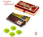 Aapno Rajasthan Dairy Milk Temptation Pack With Peacock Design Box For Diwali (DCHO1636), red and gold