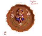 Aapno Rajasthan Terracotta Floral Shape Wall Showpiece For Diwali (DTC15555), multicolor
