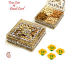 Aapno Rajasthan Floral Design Jaal Pattern Dry Fruit Box Hamper For Diwali (DMB1610), gold