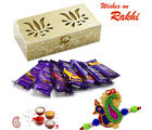 Aapno Rajasthan Twin Lotus Box with Assorted Dairy Milk Pack (INT_ CHO1644), only hamper