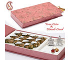 Aapno Rajasthan Gift Box With Kaju Pista Dryfruit Cake And Idols For Diwali (DWMB1407)