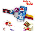 Aapno Rajasthan Pepsi Can Miniature Kids Rakhi (INT_ RK16781), set of two rakhis