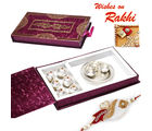Aapno Rajasthan Beautiful Gift Box with Thali Kaju Laddoo (INT_ MB1659), only hamper