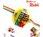 Aapno Rajasthan Pringle Miniature Kids Rakhi, multicolor, only one rakhi
