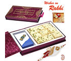 Aapno Rajasthan Premium Rakhi Gift Box with Delicious Soan Papdi (INT_ MB1657), only hamper