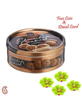 Aapno Rajasthan Sapphire Chocochips Cookies Box For Diwali (DCHO1627), brown