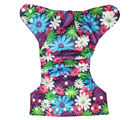 Soft Baby Reusable Adjustable Cloth Diaper (ESCD_ Flowers), multicolor