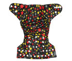 Soft Baby Reusable Adjustable Cloth Diaper (ESCD_ Stars), multicolor