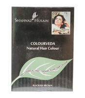 SHAHNAZ HUSAIN COLOURVEDA NATURAL HAIR COLOUR BLACKISH BROWN 100 GM