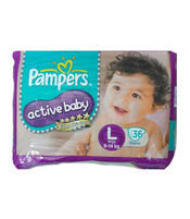 PAMPERS ACTIVE BABY L 36S