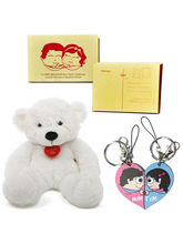 Little India Love Story Postcards Bagtag n Teddy Valentine Gift 412