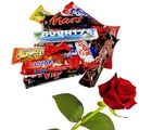 Little India AssortedRed Rose n Imported Chocolate 400Gm Valentine Gift 105