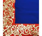 Little India Sunny Leone Heavy Floral Border Navy Modern Bollywood Crepe Sari-DLM6SRR588, navy blue