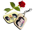 Little India Love Bite Cute Couple Bagtag n Rose Valentine Gift 130