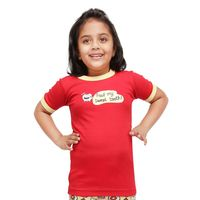 SWEET TOOTH-KIDS TEE, red, 4