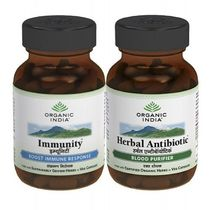 Organic India   For Immuntiy & Energy   Immunity And Herbal Antibiotic Combo