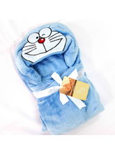 Buddyboo Cartoon Doremon Baby Bath Towel, Blue