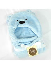 Buddyboo Cartoon Teddy Baby Bath Towel Light, Blue...