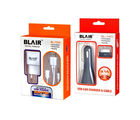 BLAIR Combo Pack of USB Power Adapter and USB Car Charger for Iphone 4
