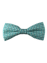 Sea Green Geometric Print Bow Tie