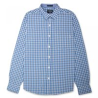 Flying Machine Small Windowpane Checks Mens Full Sleeves Shirt,  blue, xxl