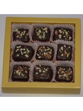 Grand Ellora - Luxury Chocolate Truffles Coated With Roasted And Crushed Almonds - 9 Piece Box
