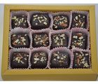 Grand Ellora - Premium Chocolate Truffles Coated With Roasted And Crushed Almonds - 12 Piece Box