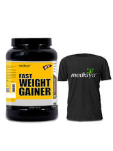 Medisys Fast Weight Gainer - 1.5Kg (Free T-shirt) (MKP00297)
