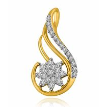Star & Stripes Two Tone 18k Gold & Diamond Pendant