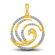 Wheels of Fortune Two Tone 18k Gold & Diamond Pendant