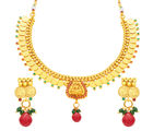Sukkhi Exotic Laxmi Temple Coin Gold Plated Necklace Set For Women (2843NGLDPAS1550)