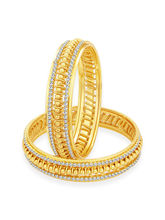 Sukkhi Fancy Gold Plated AD Bangle For Women (3222...