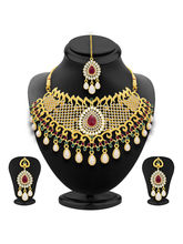 Sukkhi Fancy Gold Plated AD Necklace Set For Women...